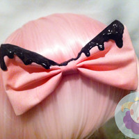 Pink Pastel Goth Bow