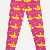 Yellow submarine on pink pattern
