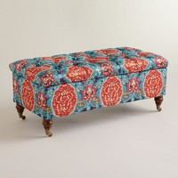 Rectangular Medallion Lucille Ottoman - World Market