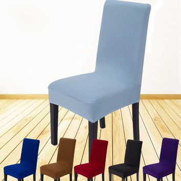 Dining Chair Cover Case Universal Polyester Stretch Spandex Elastic Chair Covers for House Room Banquet Home Wedding Decoration