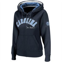 North Carolina Tar Heels (UNC) Ladies Express Full Zip Hoodie Sweatshirt - Navy Blue