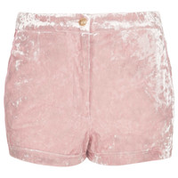 Pink Crushed Velvet Shorts - New In This Week  - New In