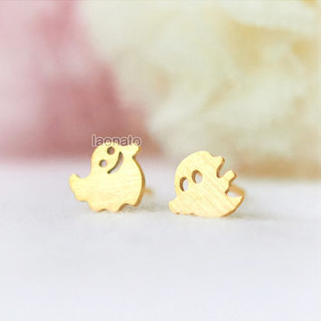Smiley Ghosts earrings / choose your color / gold and silver