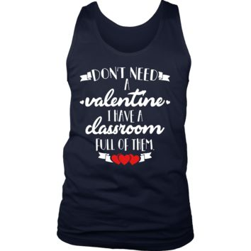 Teachers Valentine Day Tank