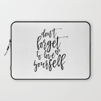 Digital Print, Typography Poster,Awesome Quote, Monochrome Art, Motivational Wall Decor Laptop Sleeve by NathanMooreDesigns