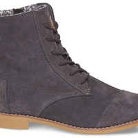 Dark Grey Suede Women's Alpa Boots US 6.5