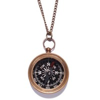 Antiqued Compass Necklace (Functional)