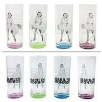 "Marilyn Monroe ""White Dress/Quotes"" Drinking Glasses"