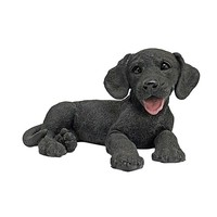 SheilaShrubs.com: Black Labrador Puppy Dog Statue CF2445 by Design Toscano: Garden Sculptures & Statues