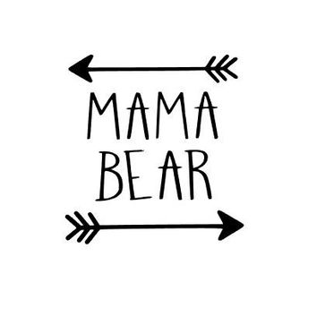 Mama Bear Decal - One Color - Perfect for Yeti, Cars, Wine Glass, Laptop, Planner and More!