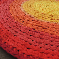 Sunset Rag Rug from Recycled T-Shirts