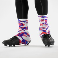 Digital Ripped camo American spats / cleat covers