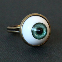 Evil Eye Ring by Sevinoma on Etsy $7.50