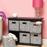 6-Bin Animal Print Storage Units