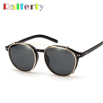 VONEGQ Brand Designer Clip On Sunglasses Punk Style Fashion Hipster Eyewear Goggles Optic Sunglasses Reflective Mirror Sun Glasses 1509