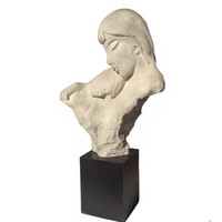 "Austin Sculpture ""First Moments"" LARGE Mother and Baby Statue by David Fisher 1984 Home Decor Collectible"