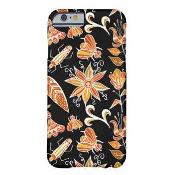 Cute Girly Vintage Floral Aztec Tribal Pattern Barely There iPhone 6 Case
