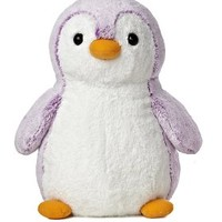 Aurora World Pom Pom Penguin Bright Violet Plush, 16""