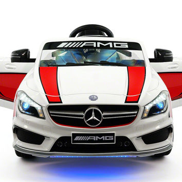Mercedes Benz CLA45 Kids Ride On Car Toy MP3,USB,12V Bat,Powered Wheels R/C | Stripe