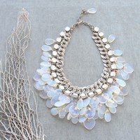 Splendid Bride Moonstone and Crystal Necklace by staroftheeast