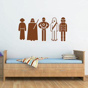 ik2717 Wall Decal Sticker Star Wars characters nursery teenager
