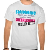 Cheerleading Swimming T-shirts, Shirts and Custom Cheerleading Swimming Clothing