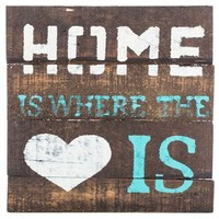 Home is Where the Heart Is Wood Sign with Easel | Shop Hobby Lobby