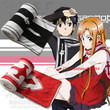 Sword Art Online Kirito Asuna Anime Character Scarf Polar Fleece Winter Knit (Color: Red)