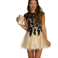 Adaline-Black Homecoming Dress