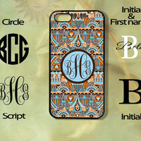 Monogram Ethanic Pattern-iPhone 5, 5s, 5c, 4s, 4 case, Ipod touch 5, Samsung GS3, GS4 case-Silicone Rubber or Hard Plas
