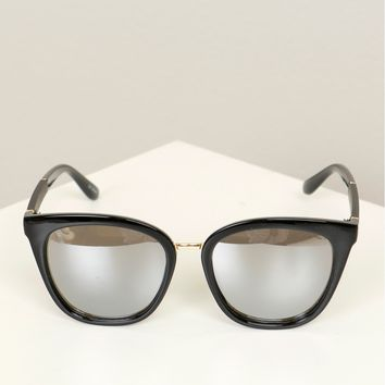 Everyday Thick Mirrored Sunglasses Black/ Gunmetal