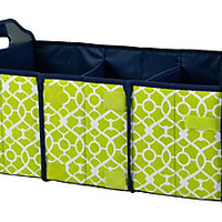Foldable Trunk Organizer, Green TrellisPICNIC AT ASCOT