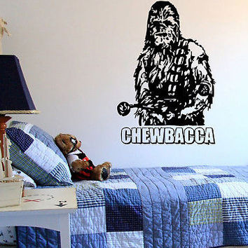 Chewbacca Star Wars Nursery Bedroom wall sticker decal wall art decor 7276-2