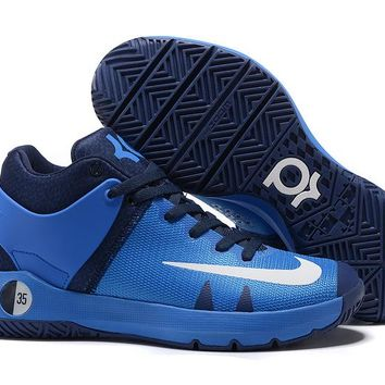 HCXX N311 Nike Zoom KD Trey 5 iv Low Actual Basketball Shoes Blue White Dark Blue