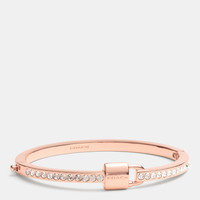 PADLOCKand pave hinged bangle