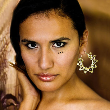 Beautiful And Unique Brass Earrings - Tribal Jewelry - Ornament Earrings - Brass Jewelry - Shape Earrings - Native Jewery - Ethnic Jewelry