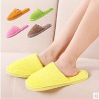 Women Men Fashion Warm Plush Home Slippers Winter Slippers Shoes