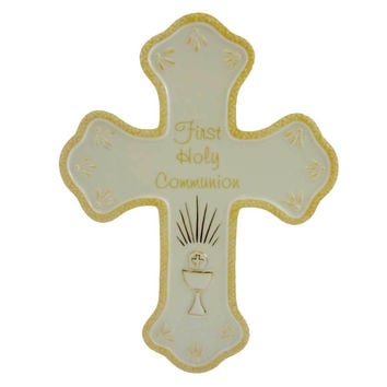 Religious First Holy Communion Wall Cross Door Decor