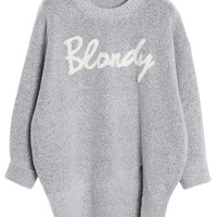 Blondy Print Loose Sweater