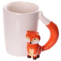 Fox Shaped Handle Coffee Mug