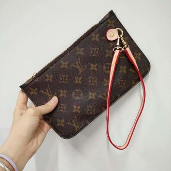 LV Women Women Fashion Shopping Leather Tote Handbag Shoulder Bag Wallet Clutch Bag Wristlet Set Two-Piece Key Pouch G