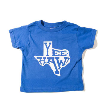 Yeehaw Royal Blue Toddler Shirt