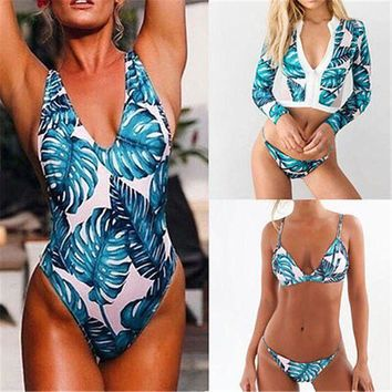 DCCKL6D Sexy Women Swinwear Women's Bandage Bikini Set Push-up Padded Brazilian Triangle Swimsuit Swimwear Vintage Brazilian Biquini