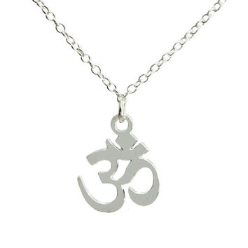 Kris Nations OM Symbol Necklace Gold Plated & Sterling Silver 18 inch