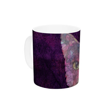 "Ancello ""Rainbow Cat"" Pastel Purple Ceramic Coffee Mug"