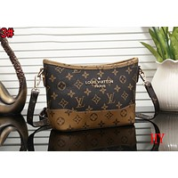 LV Louis Vuitton Popular Women Retro Shopping Bag Leather Crossbody Satchel Shoulder Bag 3#