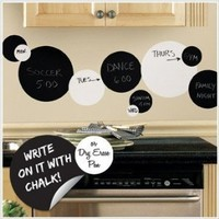 Peel & Stick By RoomMates Black and White Chalkboard Dots Wall Decals