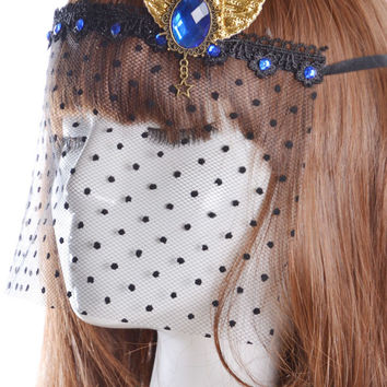 Lace Veil Lolita Purdah Party Mask