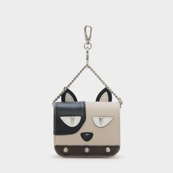 MULTI Studded Canine Key Pouch |CHARLES & KEITH