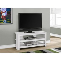 """TV STAND - 42""""L / WHITE CORNER 